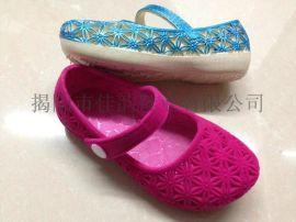 揭阳厂家供应儿童植绒单鞋