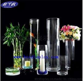亚克力花瓶透明圆柱花瓶