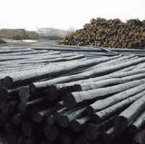 厂家生产防腐油木杆,油炸杆,通信油木杆