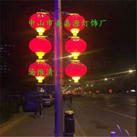 LED三联串灯笼,小灯笼,中国结,春节亮化