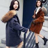 冬季長袖拉鍊羽絨棉服韓版時尚潮流休閒修身中長款