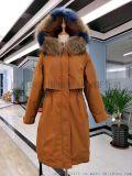品牌折扣女装新款雪罗拉羽绒服批发