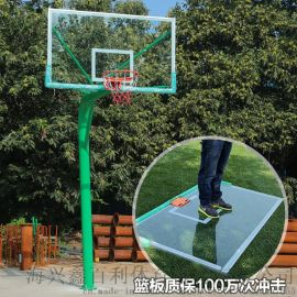地埋圆管165mm篮球架