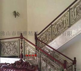 铝镀铜雕刻护栏、铜板雕刻楼梯护栏装饰无结界