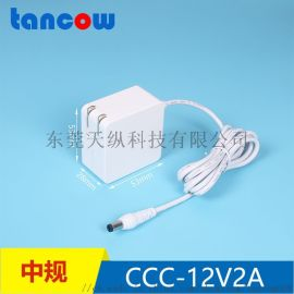 12V2A电源适配器 3C认证/LED台灯美容仪电源