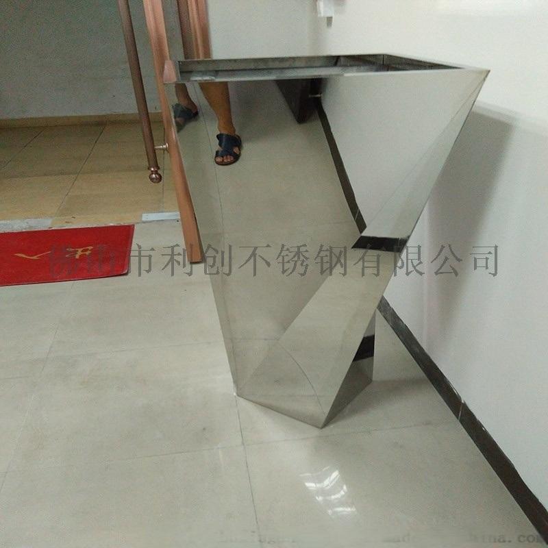 不锈钢花盆厂家定制不锈钢镜面花箱