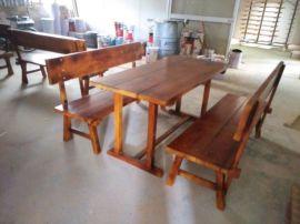 户外组合桌椅 野餐桌椅  碳化木休闲桌椅