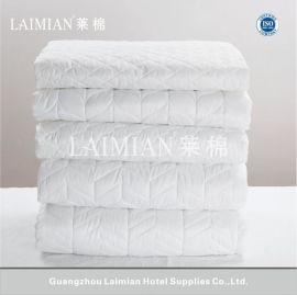 酒店布草宾馆床上用品 纯白可水洗防滑防脏保护床垫 保护垫 批发