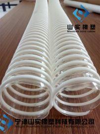 防静电塑筋螺旋吸料管150mm内径pu软管