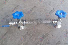 不锈钢侧装式液位计 液位计考克 螺纹联接液位计