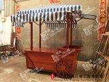 户外售货车 售货亭 实木花车 花箱 游乐园手推车售卖亭