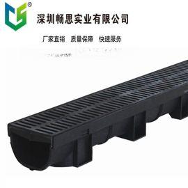定制塑料排水沟 U型塑料排水沟 HDPE排水沟 不锈钢缝隙盖板