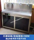 不鏽鋼電熱開水器價格 商用開水器批發 松柏中泉4龍頭節能飲水機 適用150人
