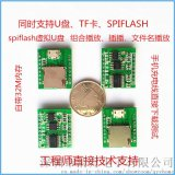 PTUF1FS语音模块串口MP3语音芯片方案模块支持U盘,TF卡和SPIFLASH