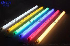 新款铝材单色七彩led护栏管 六段八段外控单色数码管跑马灯