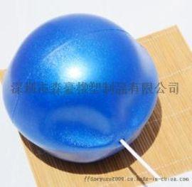 吹气瑜伽健身球 学生健身麦管球