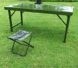 批发军绿色野战折叠桌椅厂家