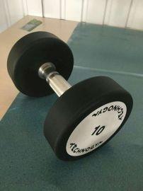 美格菲商用健身房泰諾健PU圓鋼整體焊接啞鈴T02