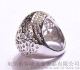 中东饰品厂家批发钻石皇冠戒指 亚马逊新款星星时尚流行皇冠戒指