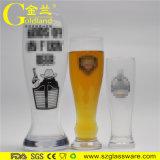 深圳金兰定制透明啤酒杯收腰玻璃德国啤酒杯