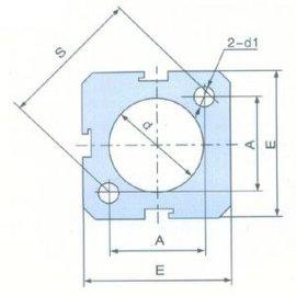 SDA铝合金薄型气缸管A型(J006)