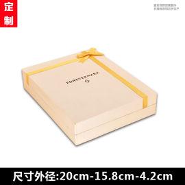 天地盖蝴蝶结丝带礼品纸盒 化妆品包装盒