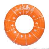 充气PVC橙子游泳圈  加厚泳圈