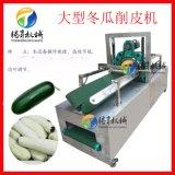 大型不锈钢卧式冬瓜削皮机 高产量冬瓜去皮机