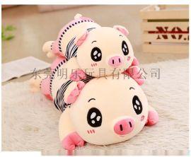 专业定制各类卡通动漫可爱猪猪抱枕毛绒公仔天猫热卖