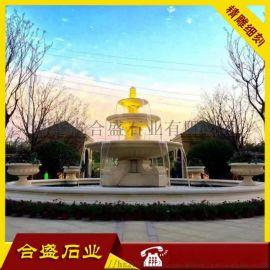 石材水钵 景观喷泉 石雕流水盆