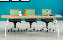 胶板会议桌02A-04款 绿色环保实木颗粒板