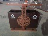 小区户外不锈钢分类垃圾筒定做户外垃圾筒箱