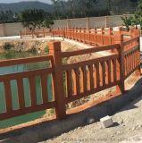 清远仿木栏杆现货_河道仿木护栏图片_池塘仿木围栏厂