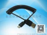 USB micro 彈簧資料線