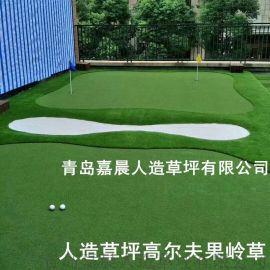 高密度高尔夫球果岭草高尔夫球人造草坪双色人工果岭草