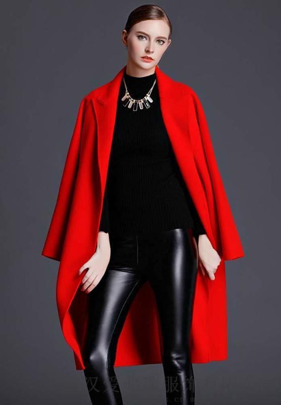 服装厂拿货走份艾米拉修身双面羊毛羊绒呢大衣女