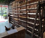 黑钛红酒不锈钢酒架定制 玻璃通透酒架红酒柜