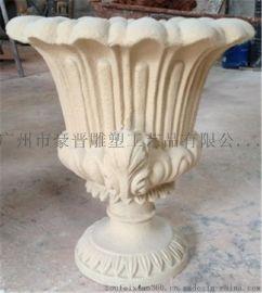 砂岩花盆公司 玻璃钢花盆定做 树脂花盆厂家