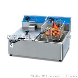 盐城杰冠DF-12L电热台式单缸单筛电炸锅