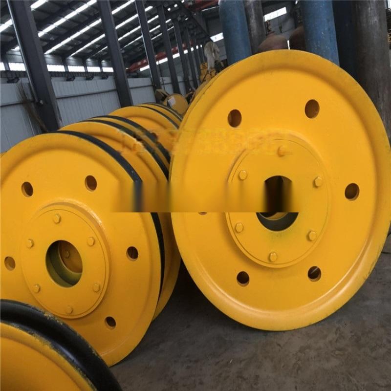 定制各种规格滑轮组 双梁吊钩组滑轮组轧制铸钢滑轮片