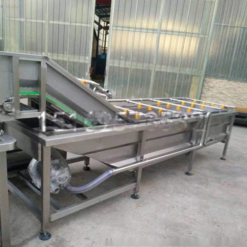 诸城誉品现货4米气泡清洗机果蔬加工流水线