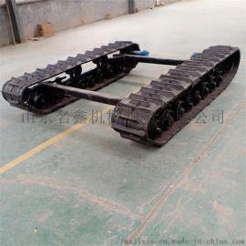 工程橡胶履带底盘 液压行走马达驱动 电动履带底盘