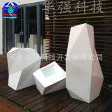 厂家定制长方形户外花盆景观玻璃钢花箱园林绿化商场玻璃钢花钵