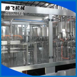 生产销售 帅飞三合一饮料灌装设备 液体灌装机 瓶装水灌装机液体