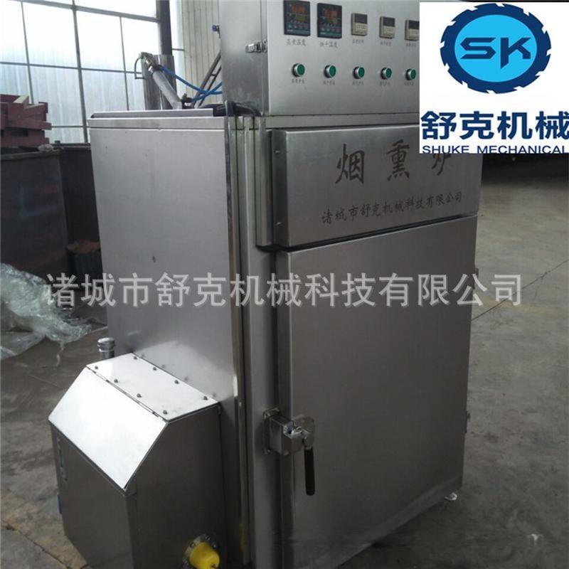 单开门里昂肠烟熏炉分类 全自动不锈钢豆腐卷糖熏烘干机