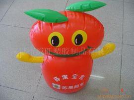 厂家生产PVC 充气不倒翁,充气公仔,广告礼品
