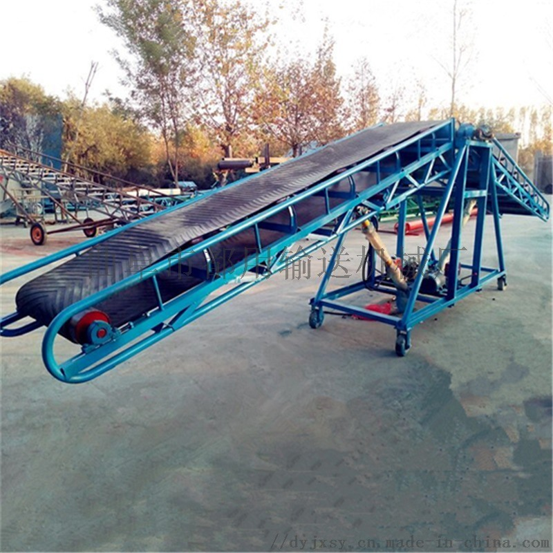 不漏料爬坡输送机 升降式圆管皮带机qc