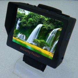 3.5寸车载显示器/液晶监视器/遮阳板/野外监控/迷你/自带电池/工程宝