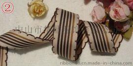 韓國diy髮飾牙邊帶材料 2.5cm寬韓國繡邊條紋羅紋帶