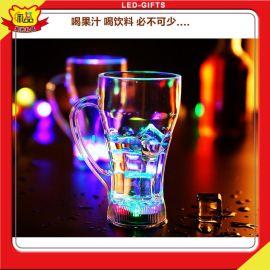 演唱会粉丝纪念品火狼发光杯_神奇入水亮发光杯子_LED七彩感应水杯